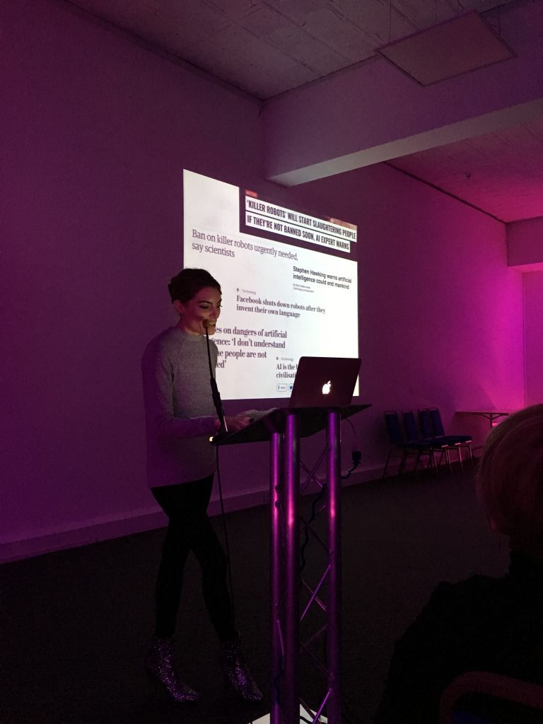 Presenting at the AI & Creativity event, Site Gallery, Sheffield.